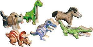 3D-Puzzle-Minis-aus-Holz-6-Tiere-und-Dinosaurier-Hund-Pferd-Krokodil