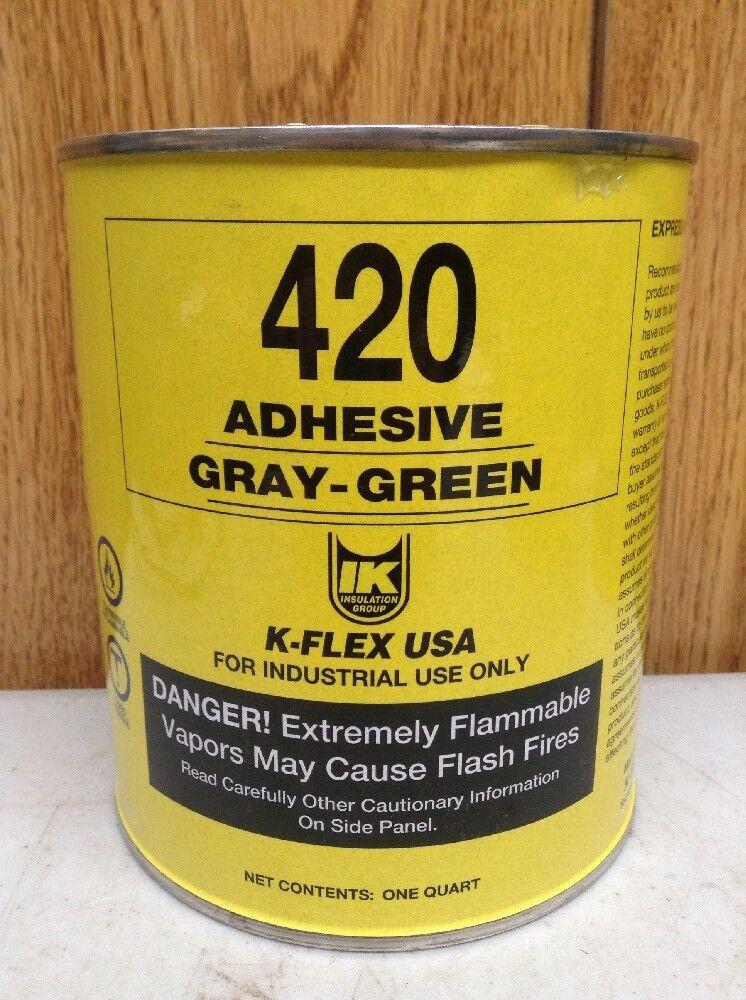 1K-FLEX USA 800-420-QT Adhesive,grau,1 qt.Größe,5 to 10 min.App G3113139 PK1