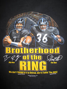 7c7bee2a0e1 Image is loading BIG-BEN-ROETHLISBERGER-Pittsburgh-Steelers -JEROME-BETTIS-LG-
