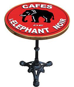 MANGE DEBOUT TABLE BISTROT EMAILLEE PUB RETRO CAFES DE L'ELEPHANT NOIR