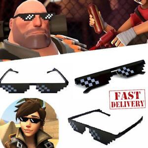 Thug-Life-Glasses-8-Bit-Pixel-Deal-With-IT-Sunglasses-Unisex-Sunglasses-Decor-YG