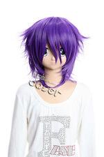 W-143 SHIKI Natsuno Yuuki Koide lila purple 40cm Cosplay Perücke Wig Perruque