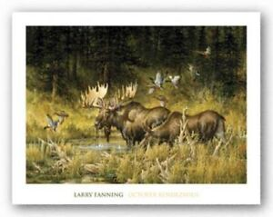 October Rendezvous (detail) Larry Fanning Art Print 36x50
