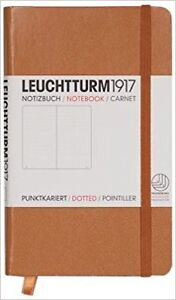 Notizbuch-Pocket-A6-Hardcover-185-nummerierte-Seiten-karamel-dotted