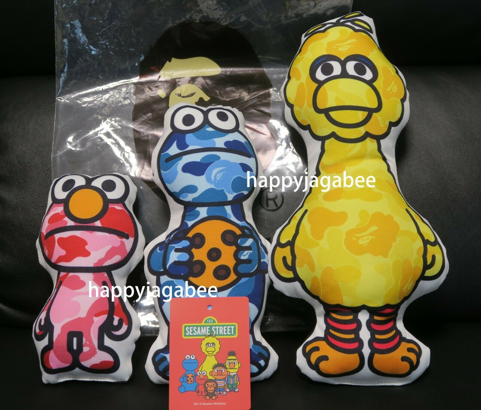 A BATHING APE Goods BAPE x SESAME STREET PLUSH TOY SET Doll New