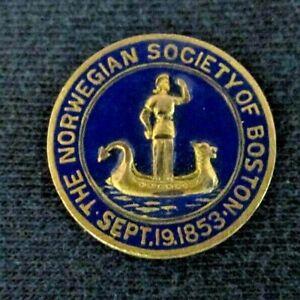 NORWEGIAN-SOCIETY-OF-BOSTON-Lapel-or-Hat-Pin-Vintage