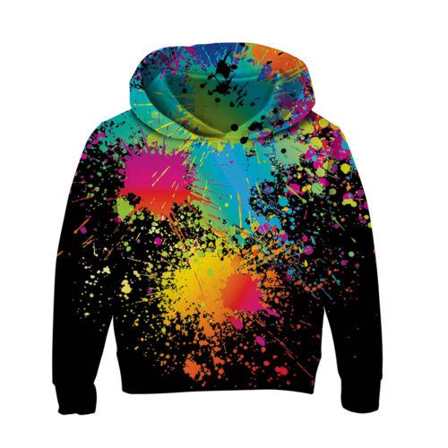Christmas Kids Boys//Girls 3D Print Hoodie Sweatshirt Pullover Jumper Coat Warm