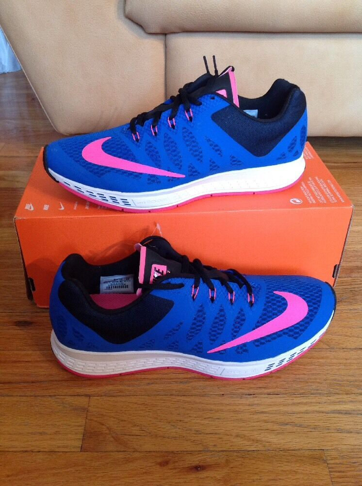 NIKE PEGASUS+ ZOOM ELITE 7 BLUE-PINK-BLACK-WHITE 654443-400 RUNNING SHOES 10
