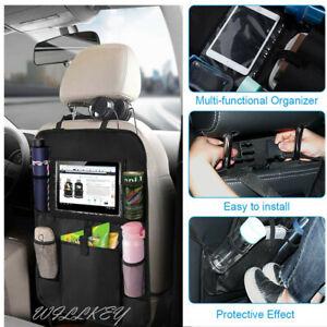 Car-Back-Seat-Organiser-Tablet-iPad-Holder-Protector-Kids-Tidy-Bottle-Kick-Mat