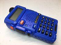 BAOFENG UV-5R BLUE BODY DUAL BAND UHF VHF TWO WAY HAM AMATEUR RADIO TRANSCEIVER