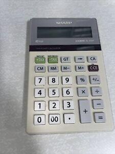 SHARP Elsimate EL-334T 10 Key Digit Calculator Twin Power Solar Calculator-Works
