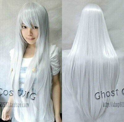 New Fashion Womens Multi Color Cosplay Party Long Straight Wig 80cm/100cm