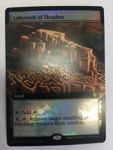 MTG-Theros-Beyond-Death-Labyrinth-Of-Skophos-Extended-Art-Foil-NM