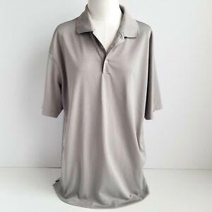 Nike-Golf-Dri-Fit-Tour-Performance-Polo-Shirt-Mens-L-Short-Sleeve-Gray