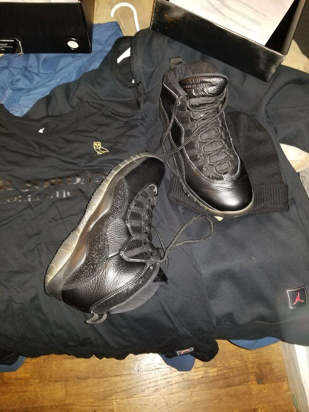 Air Jordan Jordan Jordan 10 OVO Size 10.5 Retro 1 2 3 4 5 6 7 8 9 11 12 13 Banned b45da6