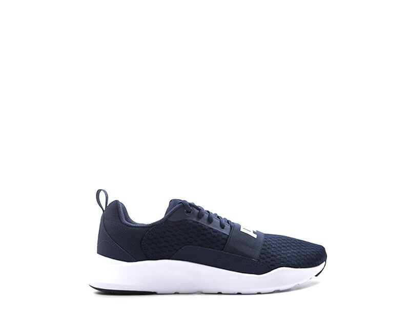 shoes PUMA men Sneakers  blue PU,Tessuto 366970-003
