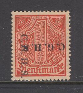 Upper Silesia Sc O47 var MLH. 1920 1mk Double Ovpt, 1 vertical 1 inverted