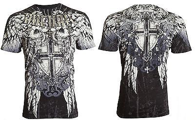 Archaic AFFLICTION Mens T-Shirt CRITERION Skulls Tattoo Biker MMA UFC M-4XL $40