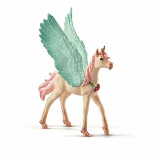 SCHLEICH Bayala personaggio del gioco gioielli Einhorn-Pegasus puledriUNICORNO personaggio a partire dal 3 J.