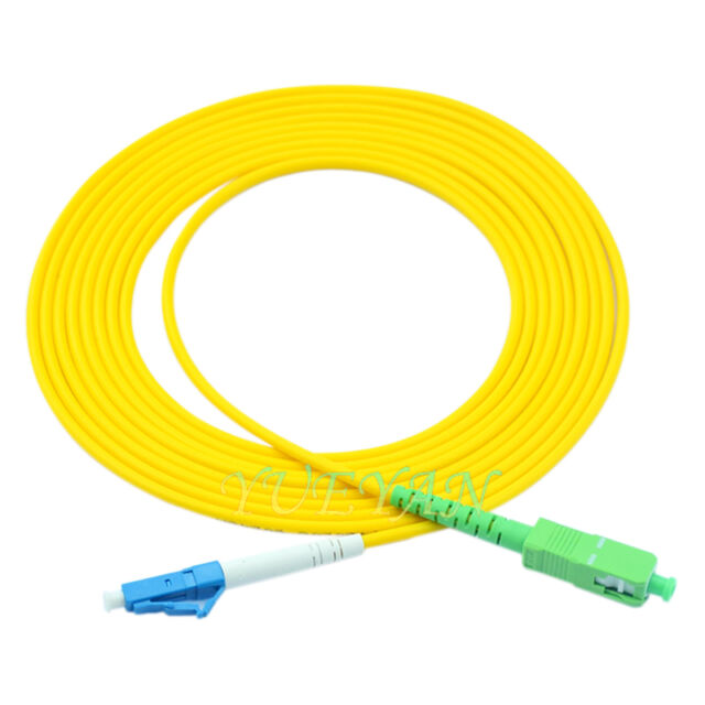 LC//UPC to SC//APC Singlemode Duplex OS2 Fiber Patch Cable 3 Meters Lifetime Wty