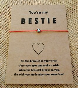 wish bracelet you are my bestie friendship gift best friend