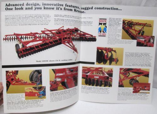 Krause Tandem Disc Harrow 3 Section 27-35 1//2 ft 4990 Series Flex Wing Brochure