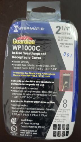 Intermatic WP1000C Guardian Series Single Gang Weatherproof While-In-Use Cover