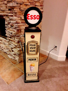 Image Is Loading 42 034 Esso Gas Pump Cabinet With Light