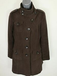 WOMENS-NEXT-SIZE-10-BRUSHED-COTTON-BUTTON-UP-SINGLE-BREAST-COAT-JACKET-UK-10