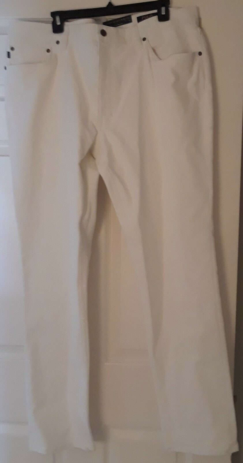 NWT RALPH LAUREN MEN STRETCH SLIM FIT WINTER CREAM CORDUROY PANTS 42-30