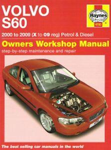 2000 2009 volvo s60 gas diesel repair manual 2003 2004 2005 2006 rh ebay com 2004 volvo s60 owners manual download 2004 volvo s60 shop manual