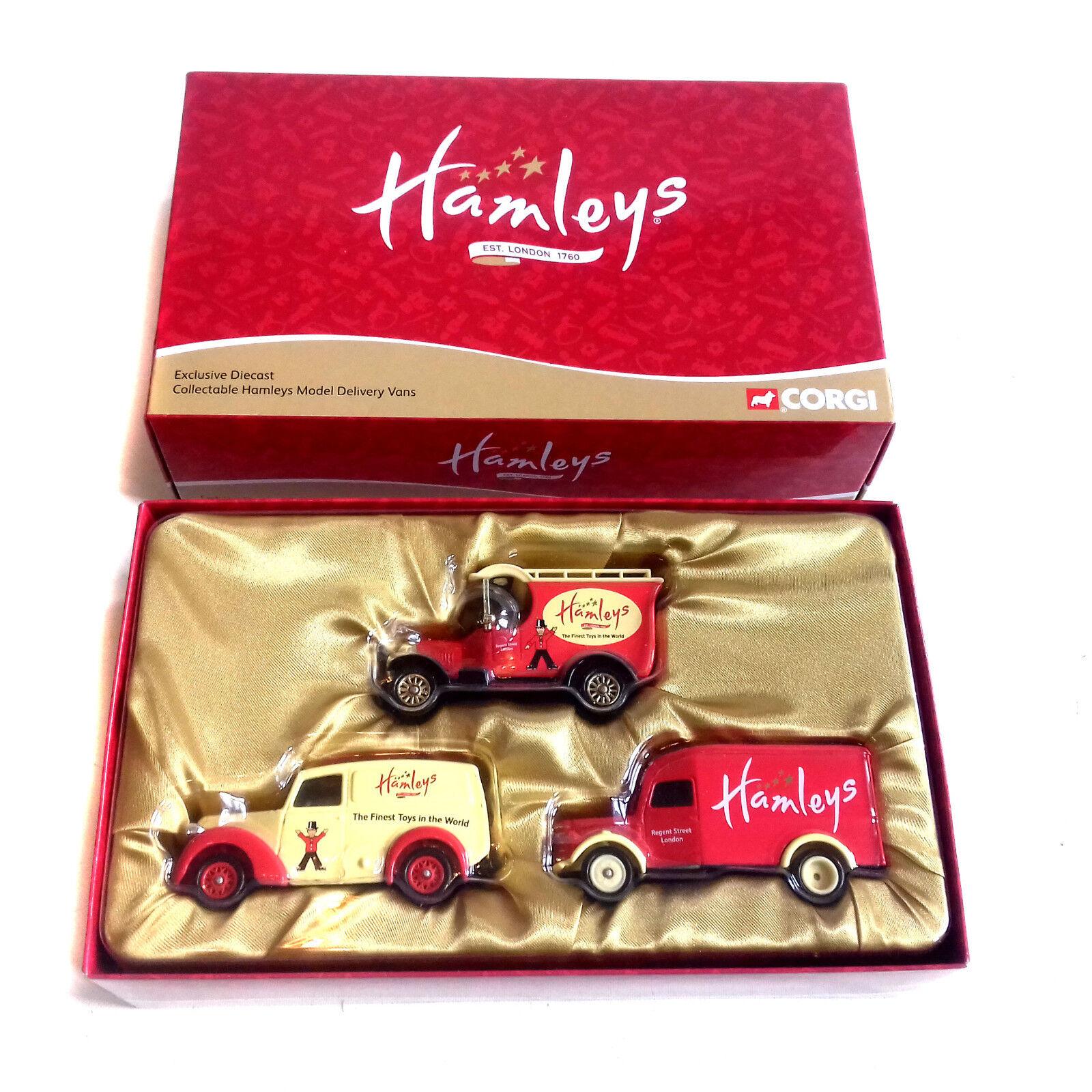 Corgi Diecast HM2003 Hamleys toy store Morris Z Bullnose & Bedford Vans box set