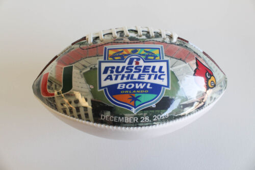 Authentic 2013 Russell Athletic Bowl Autograph Football Louisville vs Miami