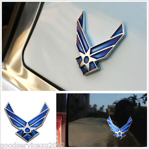 One pcs 3d air force logo emblem car suv fuel tank cap for Air force decoration writing