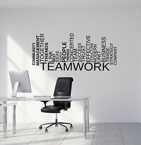 Vinyl Wall Decal Teamwork Words