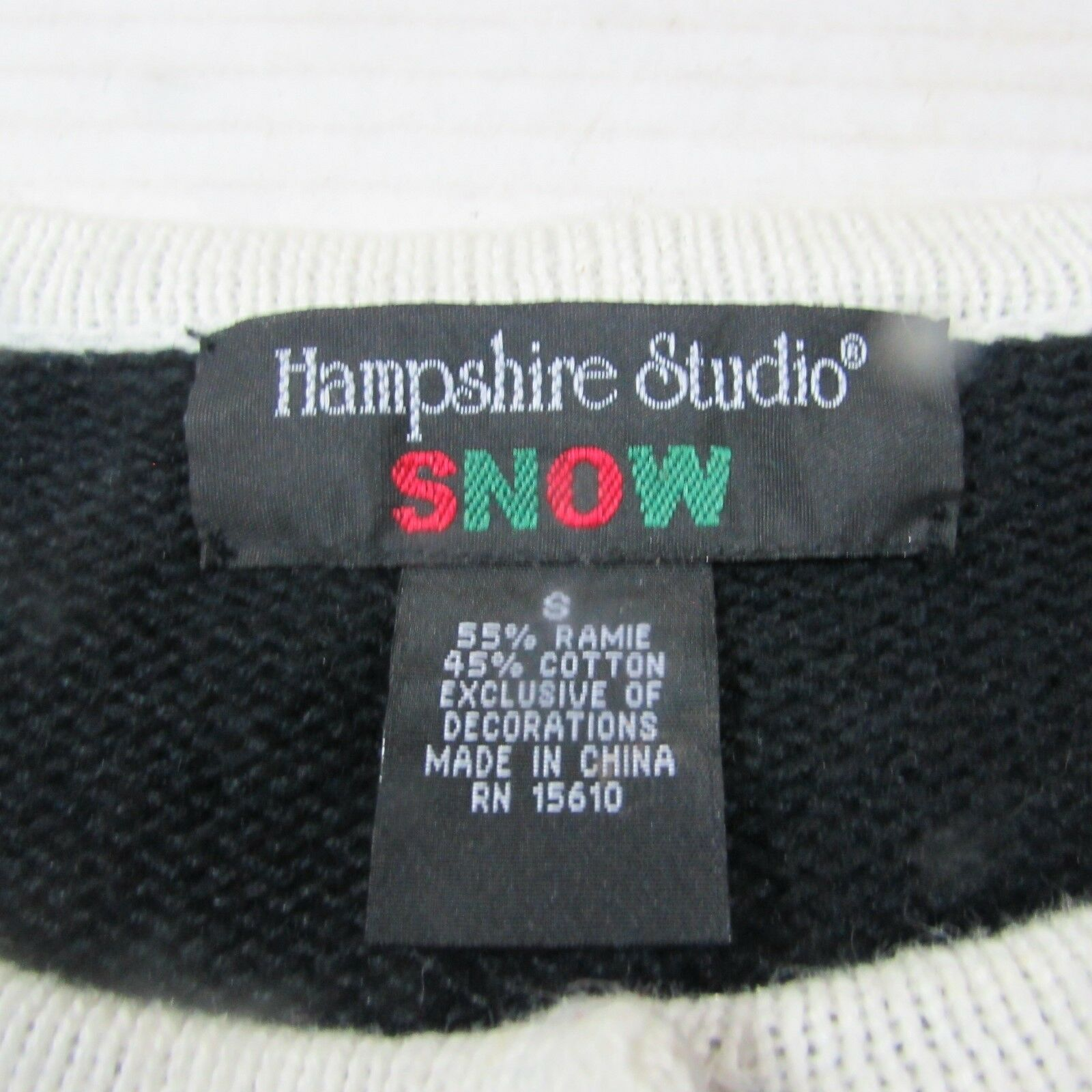Sz S {hampshire studio SNOW} Christmas Time Ugly Sweater Sweater Sweater Snow Man WOMEN NWT 2a6806
