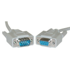 Kentek 1FT DB9 Male to 2x DB9 Female Extension Y Splitter Cord 9Pin Serial RS232