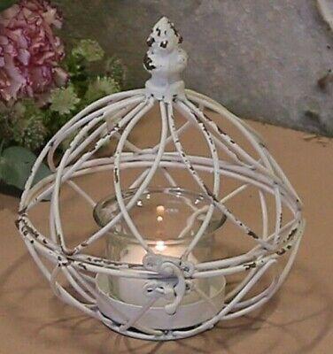 Teelichthalter fil de fer Windlicht Metall Kerze Chic Antique vintage und shabby