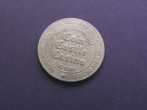 Slot Gaming token Scarce COIN CASTLE CASINO Vintage LAS VEGAS $1