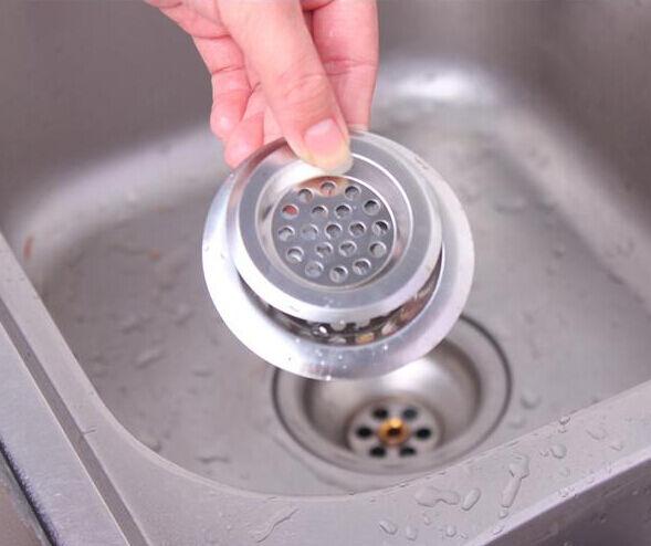 2 Pieces Stainless Steel Kitchen Sink Strainer Waste Disposer Plug Drain Filter