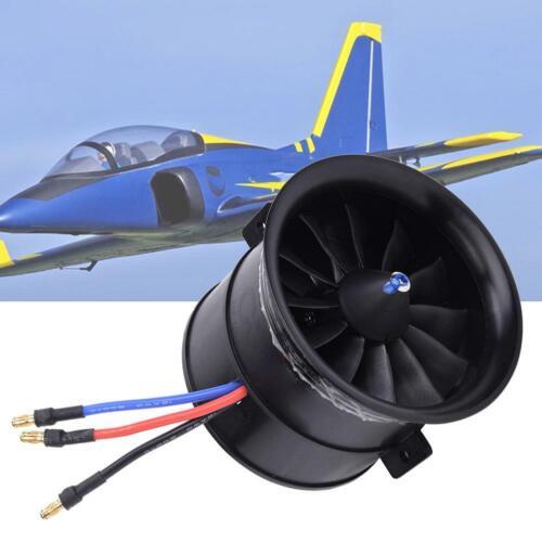 EDF 70mm 12-Blade Fan Propeller Starting Motor RC Model Craft Accessories