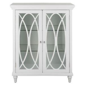 Modest Floor Cabinet With Glass Doors Creative