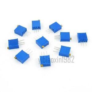 50Pcs 5K Ohm Single Turn Potentiometer Pot Rotary Variable Resistor new