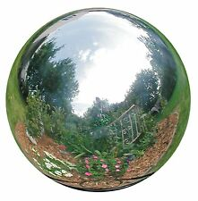 Rome 704-S Silver Stainless Steel Gazing Globe, Polished Stainless Steel,