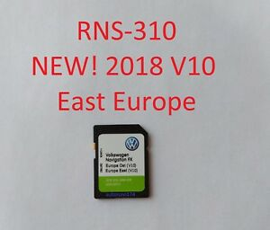 Details about 2018! East V10 RNS 310 Sd card VW Seat Skoda SD Card Map FX  Europe East