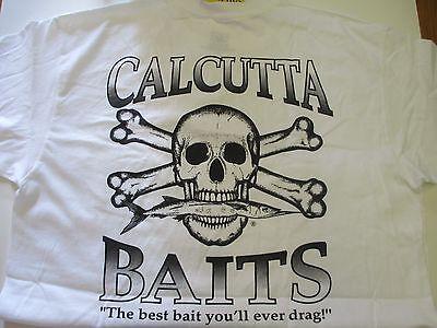 NEW Authentic Calcutta T-Shirt Short Slv Sz XL White Inshore Slam Logo