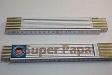 Zollstock mit  SPRUCH     SUPER PAPA      Lasergravur 2 Meter Handwerkerqualität