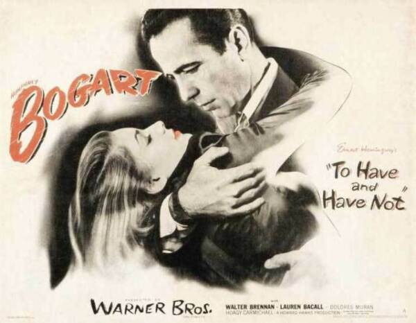 To have /& have not Humphrey Bogart movie poster print #1