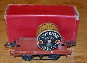 Franc Vintage Boxed Hornby Series Meccano O Gauge R159 Flat Truck With Cable Drum Belle Apparence