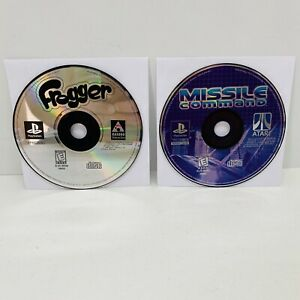 Frogger-amp-Missile-Command-Sony-PlayStation-1-1997-PS1-Game-Discs-Only